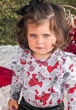 BODY FLEX INFANTIL FEMININO ESTAMPA DE URSA 9296